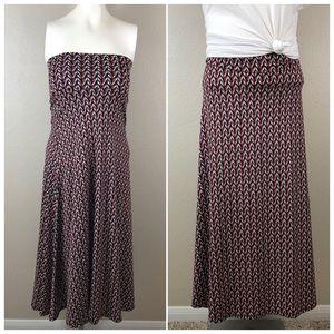 Lularoe Geometric Casual Pull On Summer Maxi Skirt
